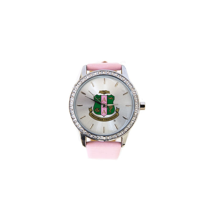 Sorority Leather Band Watch w/ Shield