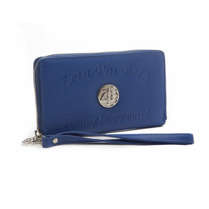 Zeta Phi Beta Ladies Embossed Soft Leather Wallet