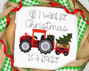 All I Want For Christmas Is A Tractor