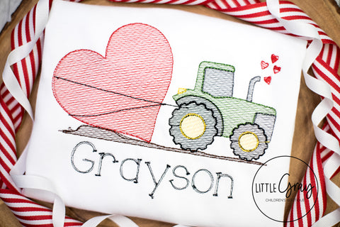 Tractor Pulling Heart Design