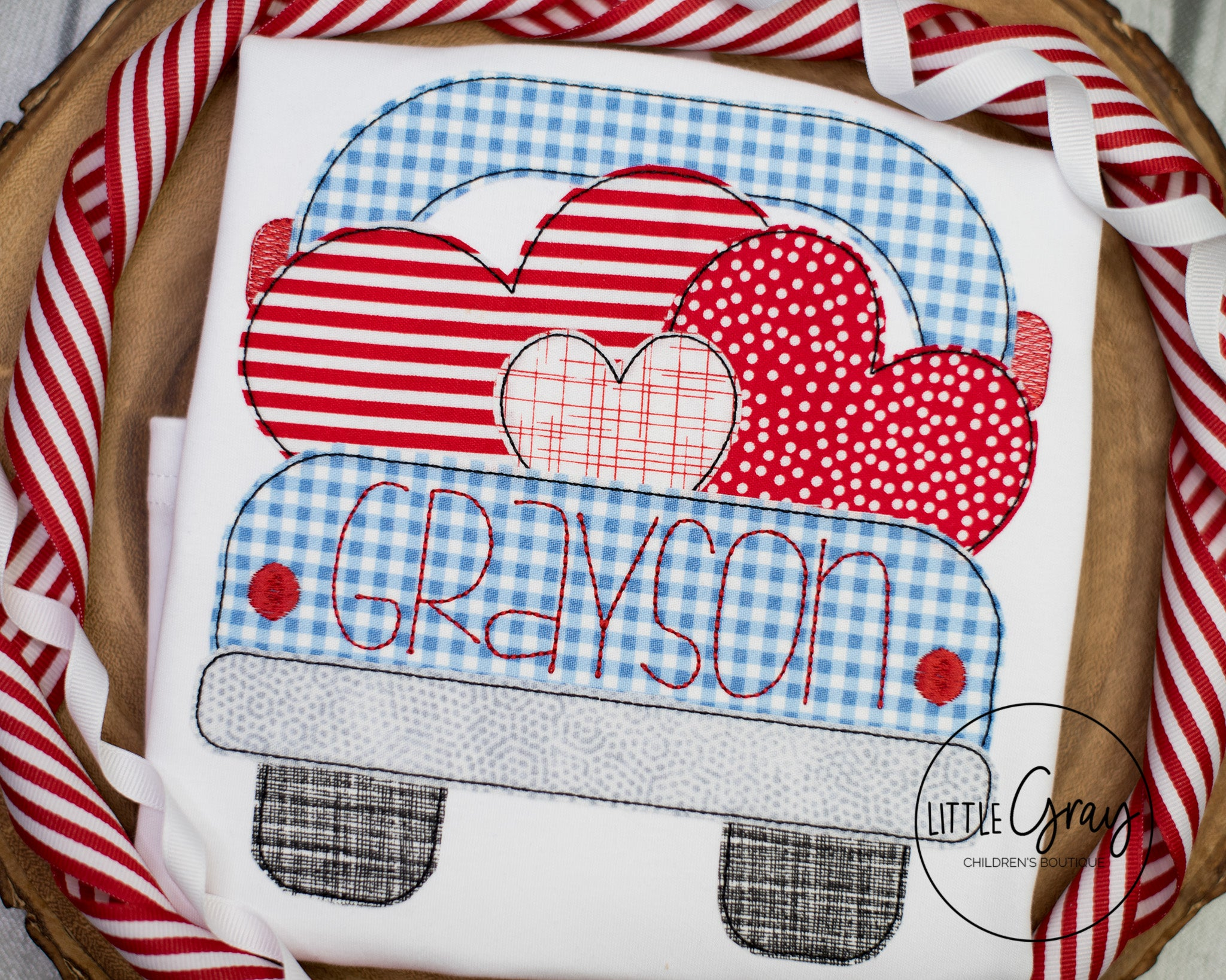 Truck with Hearts Design