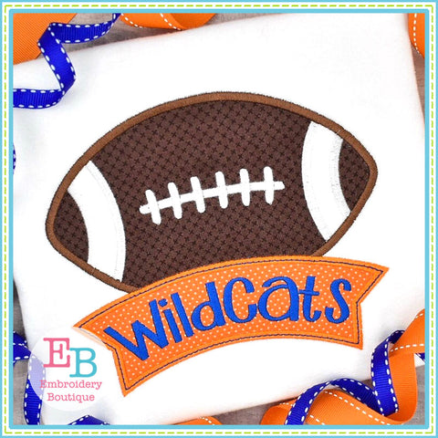 Football Banner Applique T-Shirt