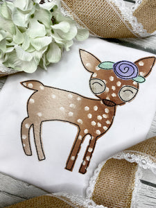 Girl Fawn Applique