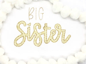Big/Little Sister Applique
