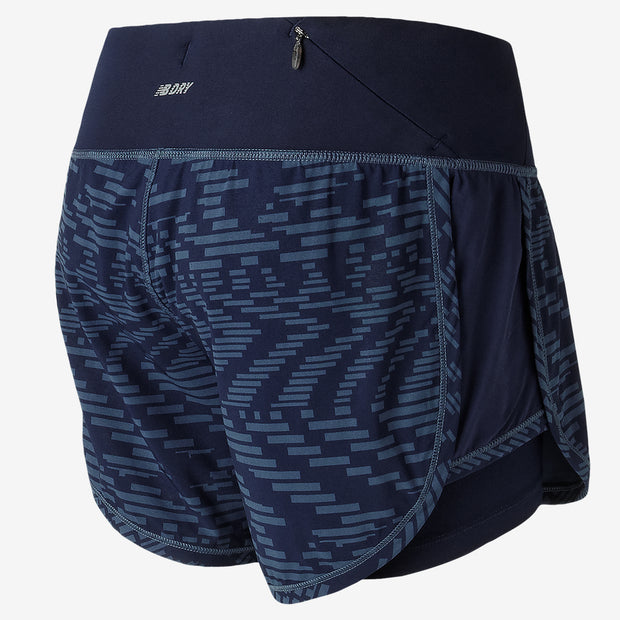 "New Balance - Impact 4"" 2 in 1 Short - Femme"