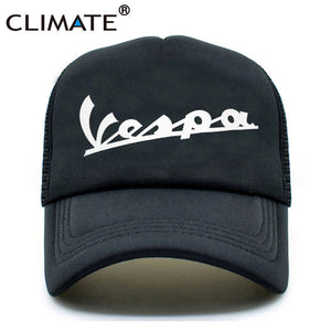 bfac86d9ef0 CLIMATE Men Cool Vespa Trucker Caps Wasp Motorcyclist MOTOR Fans Black Cool  Summer Trucker Caps Hat For Men Women Youth