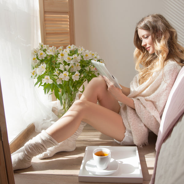 Time to decompress?  Cozy and luxurious loungewear to the rescue!