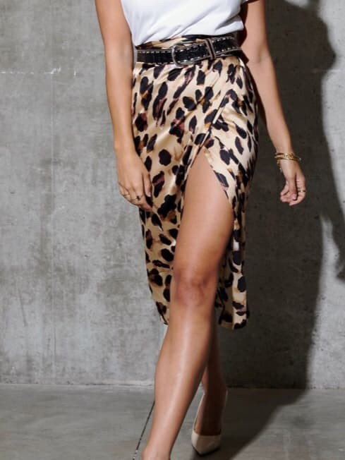 Leopard jaspre skirt by Never Fully Dressed