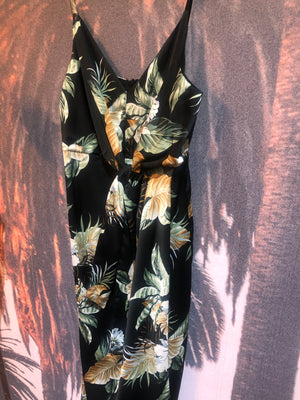Sunny girl palm dress