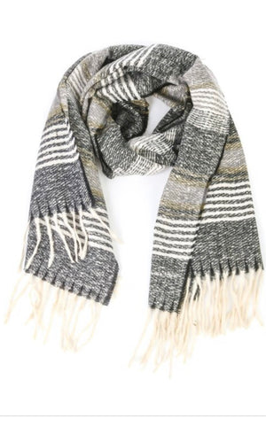 Manhattan striped scarf