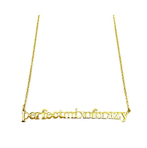 Perfect mix of crazy necklace (gold)