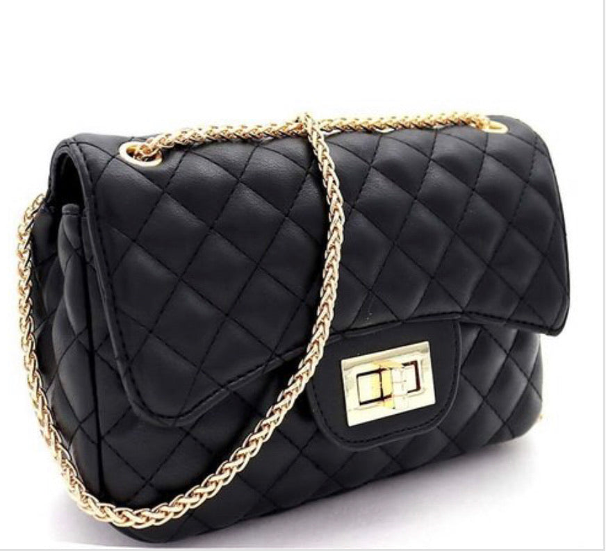 Uptown quilted shoulder bag