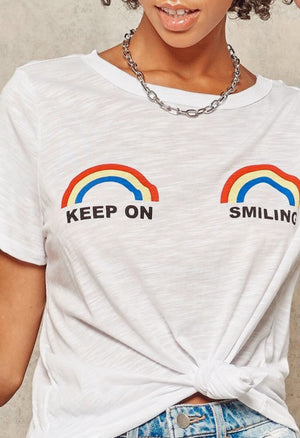 Smile Rainbows graphic tee