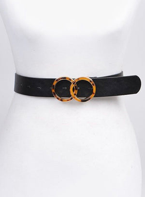PaperDoll belt in black and tortoise
