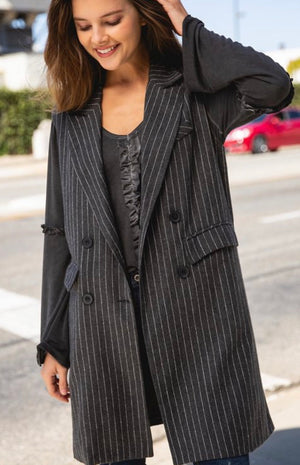 Alyssa pin stripe Vest