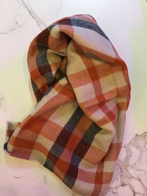 Olive and pique large plaid scarf