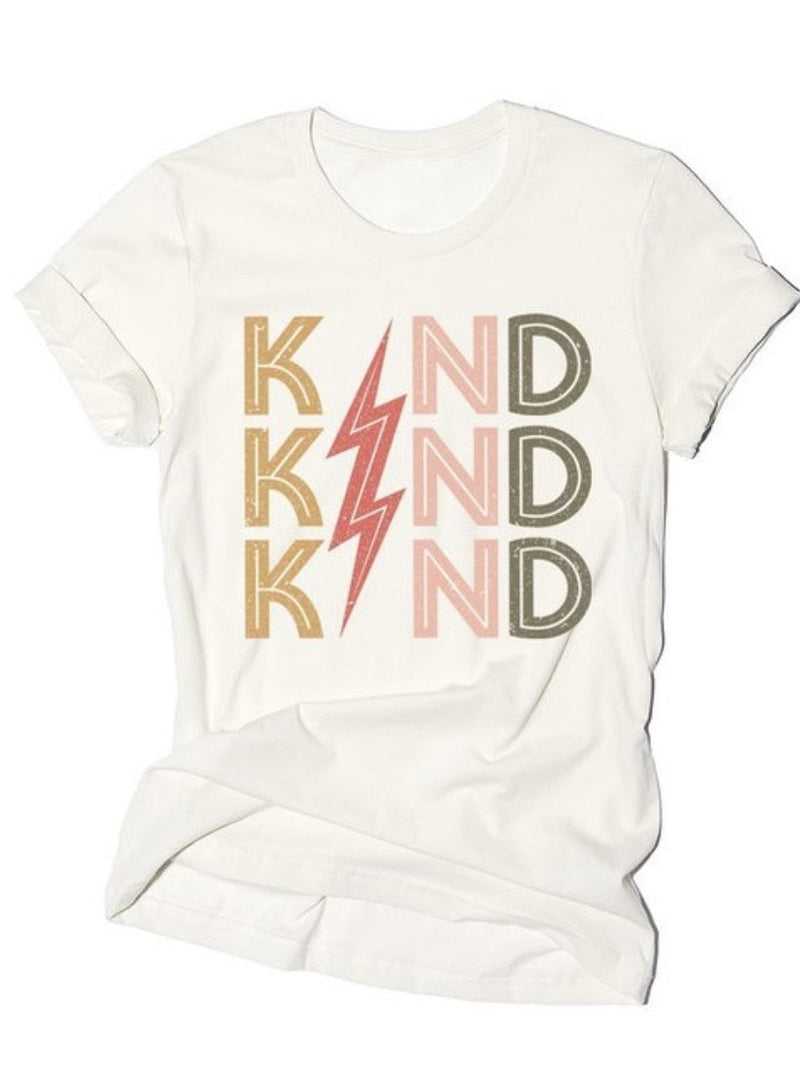 Kindness lightning Graphic tee