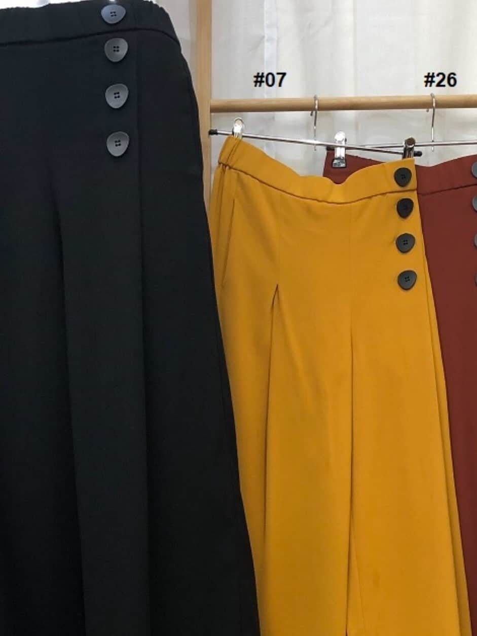 Sunny girl button wide leg pants