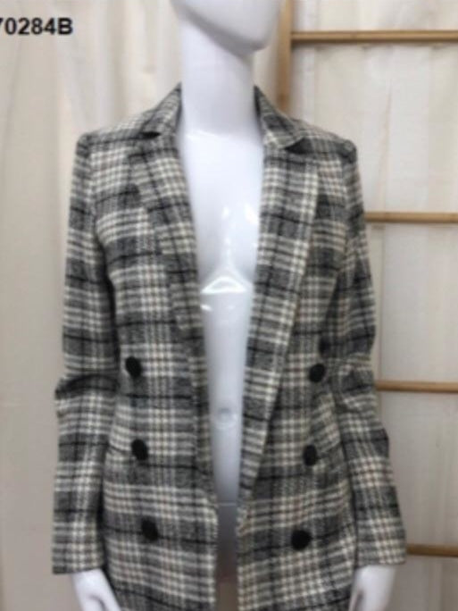 Sunny girl plaid blazer
