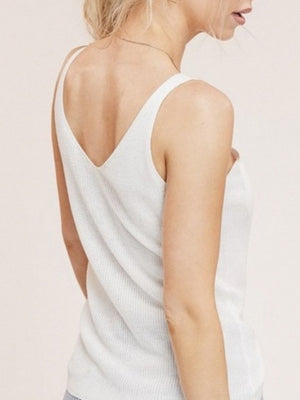 Essential white knit tank