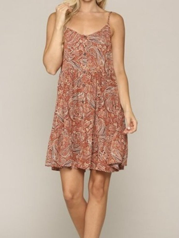 Kendra paisley dress