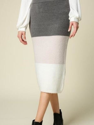 Lumiere sweater skirt grey cream