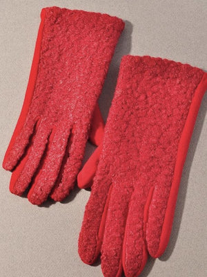 Sherpa and jersey gloves