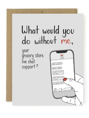Grocery support card