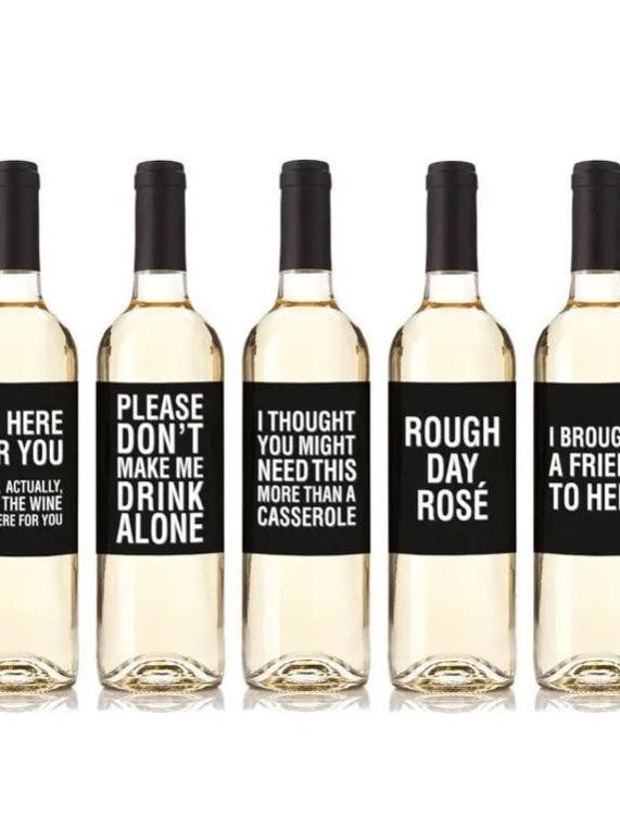 Real life wine labels (set of 5)