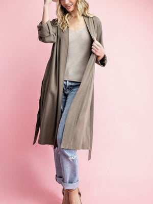 The Trench duster in olive