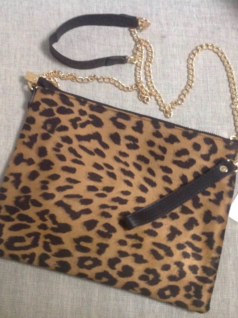 Leopard clutch/cross body bag