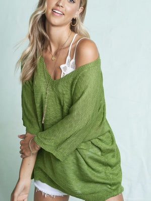 The summer sweater in matcha