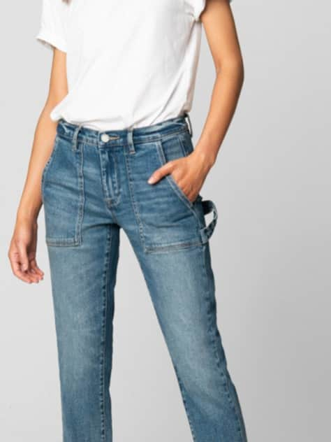 Blank nyc thank you next flat pocket jean