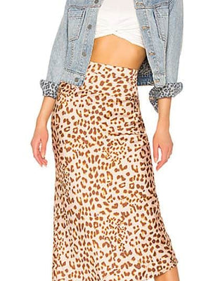 Normani leopard skirt