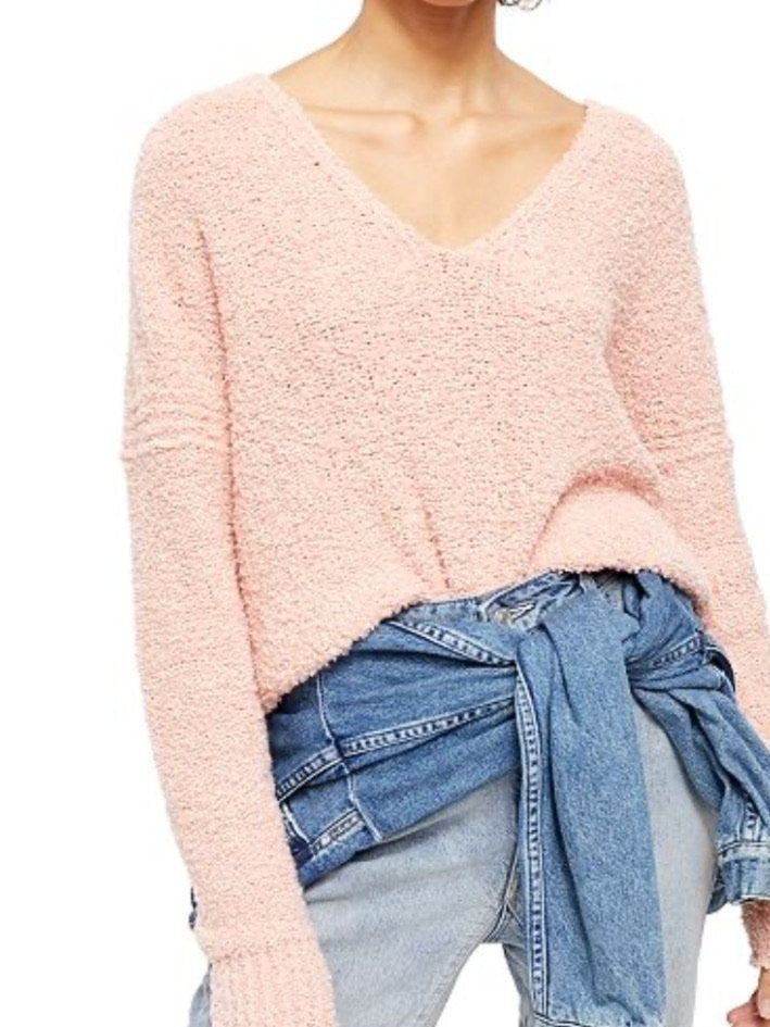 Free people Finders Keepers vneck knit in blush
