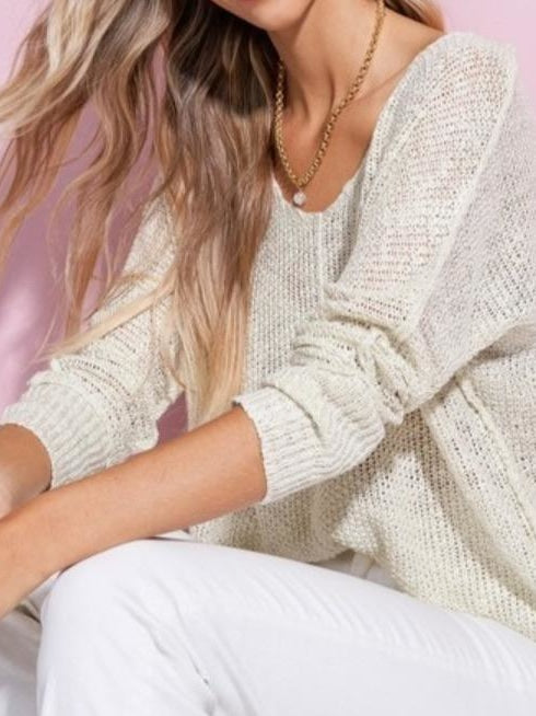 La miel soft knit sweater vneck