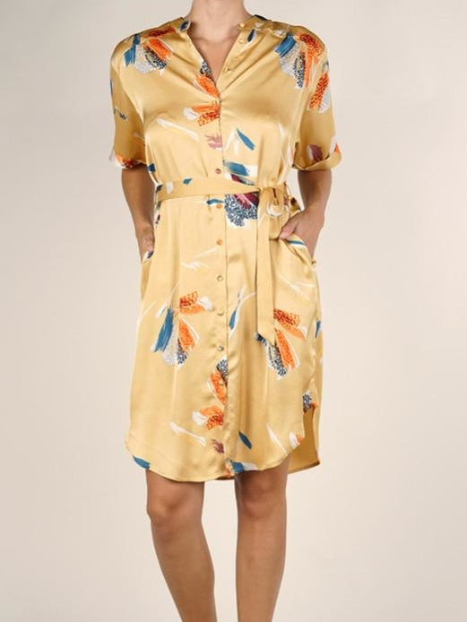 Lovestitch golden shirt dress