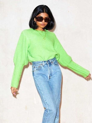 Never Fully Dressed Acid Green sweater
