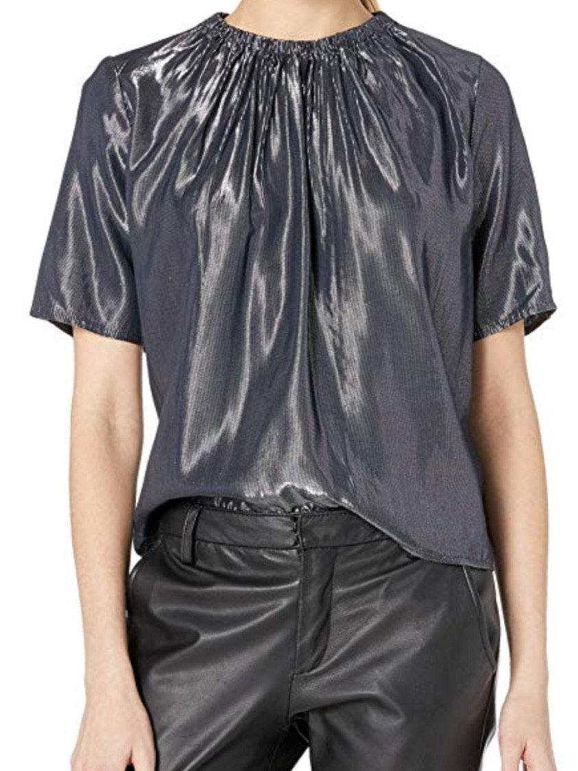 Graphite disco blouse