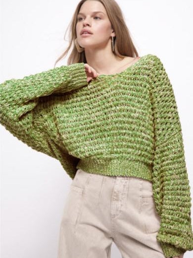 Coconut V knit in lime
