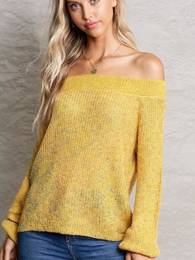 the Laurie Off the Shoulder knit