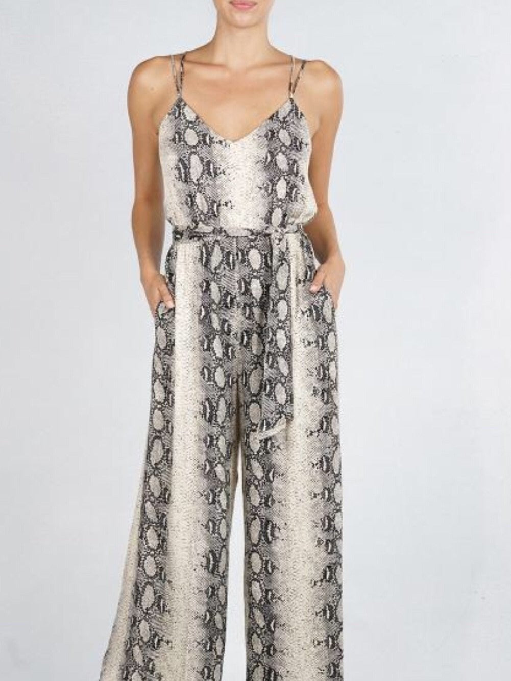Lovestitch snake print jumpsuit