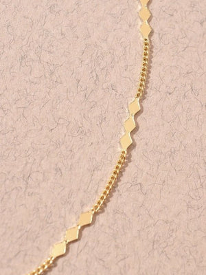 Dainty gold layering necklace