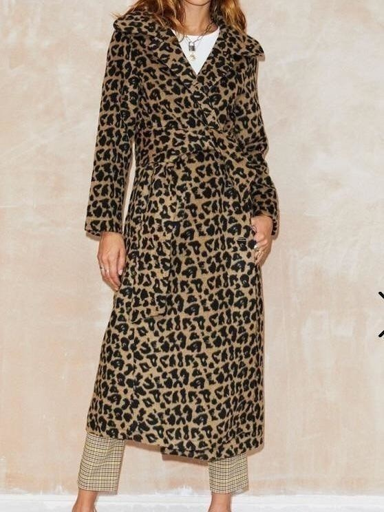 Never fully dressed leopard trench