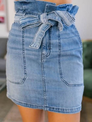 Britney denim skirt