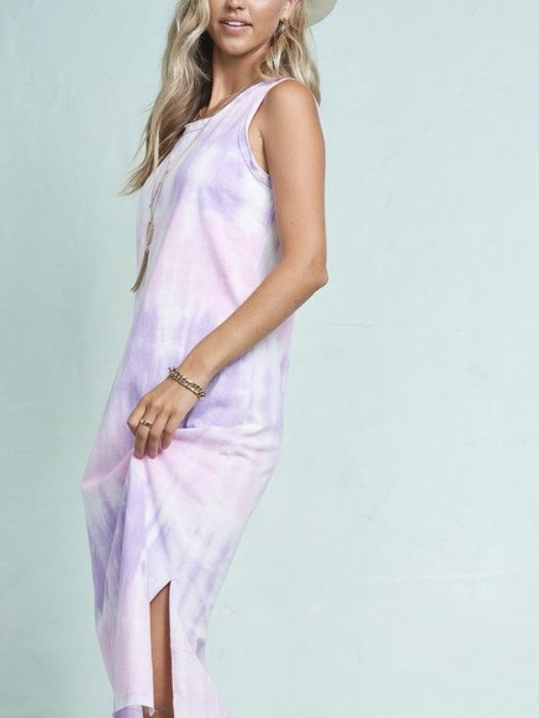 Bree tie dye tank dress