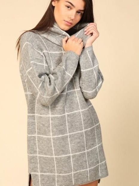 Lumiere grey sweater dress