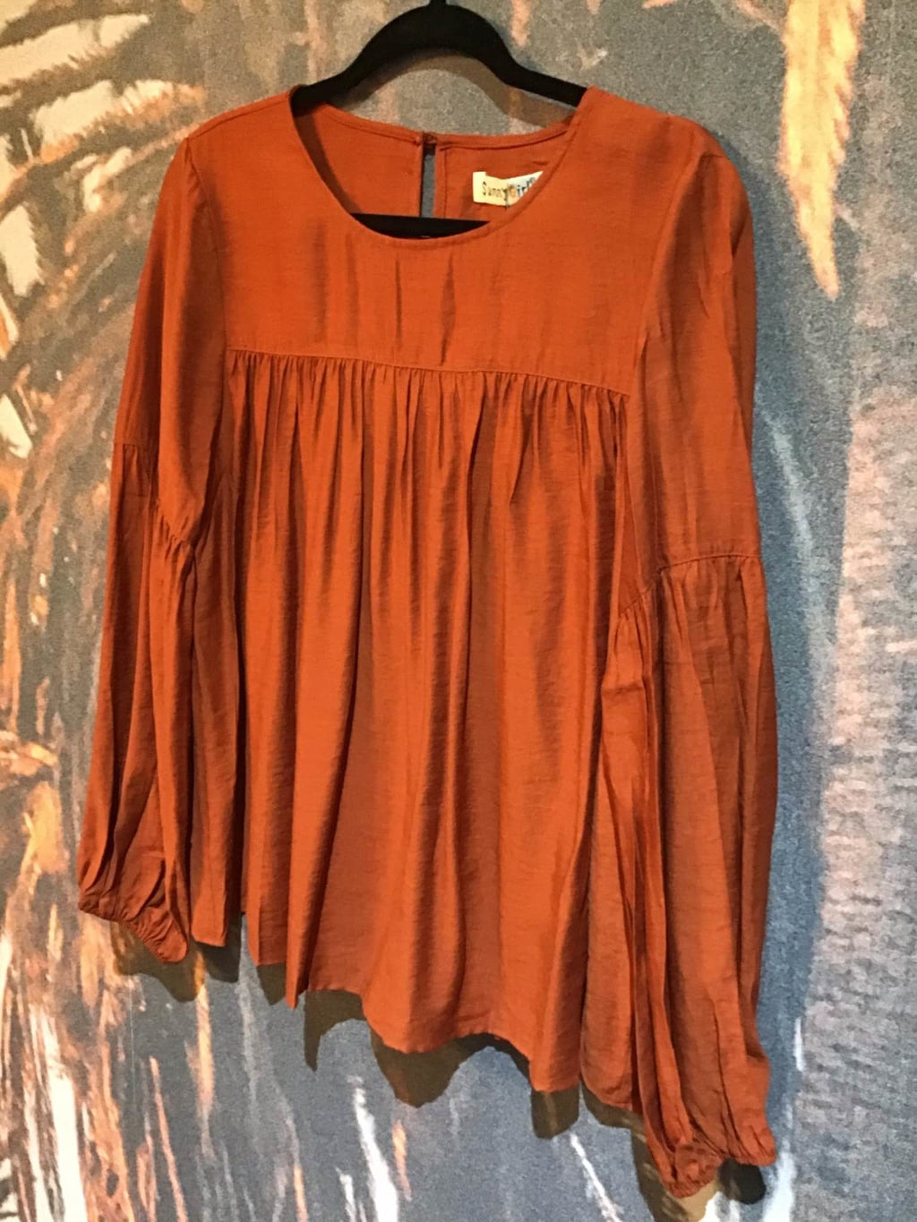 Smocked Rust blouse