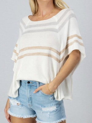 Candy Stripe Dolman summer knit
