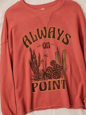 """Always on Point"" vintage Cropped  sweatshirt"